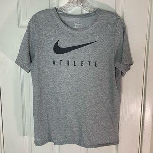 Nike Dri-Fit Grey & Black Short  Sleeved Tee Shirt